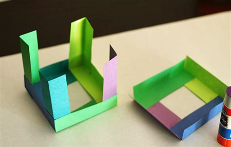 Paper Cubes - paper cube sculptures make and takes
