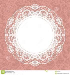 elegant doily on lace gentle background royalty free stock