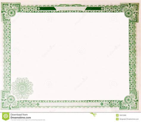 Vieux Cadre Vide 1914 De Certificat D'actions De Cru Image