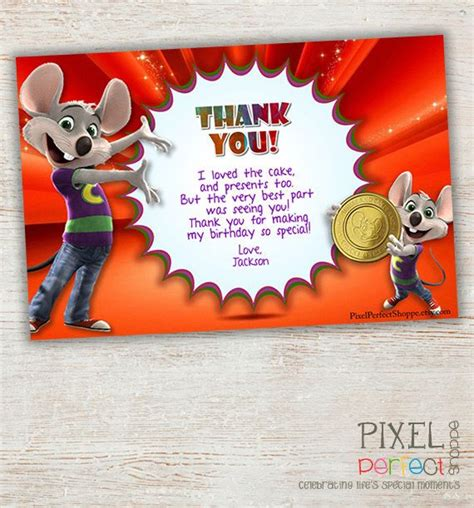 printable chuck e cheese thank you cards 17 best images about chuck e cheese birthday party on