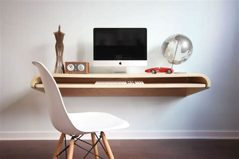 office wall desk home office minimal float wall desk