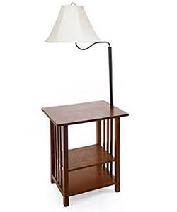 combination floor l end table with shelves and swing arm shade use as a nightstand or