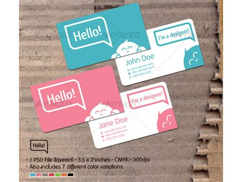 hello business card template the classiest and well designed printable business cards
