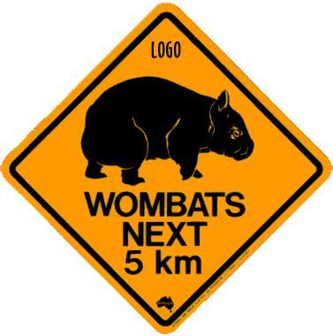 printable australian road signs corporate road signs wombat