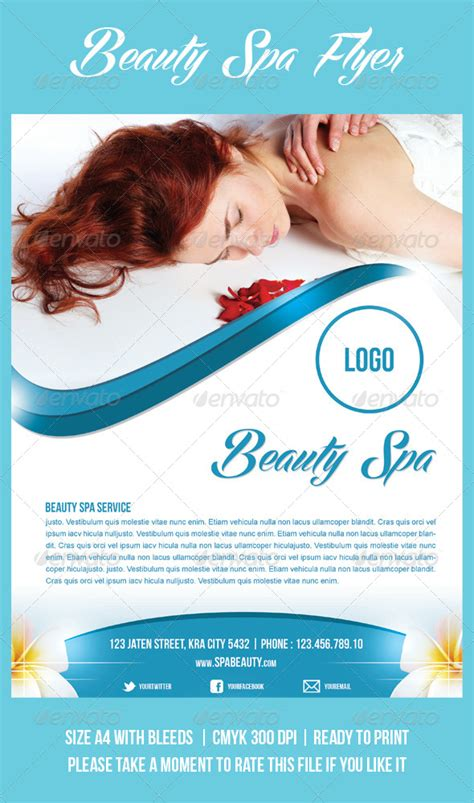 Beauty Spa Flyer By Meisuseno Graphicriver Spa Flyer Templates Free