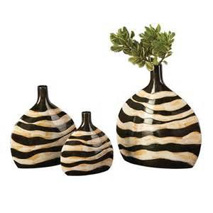Animal Print Vases Tyler Dillon Zebra Print Vase Set Atg Stores