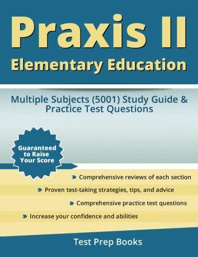 read praxis ii elementary education