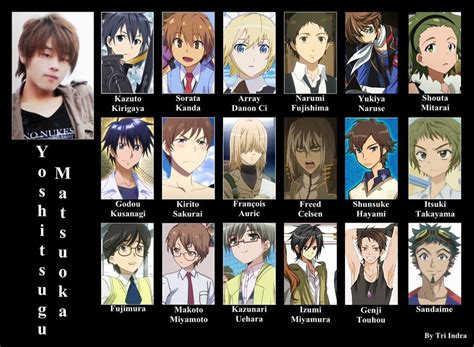anime voice actors yoshitsugu matsuoka how many of his anime series can