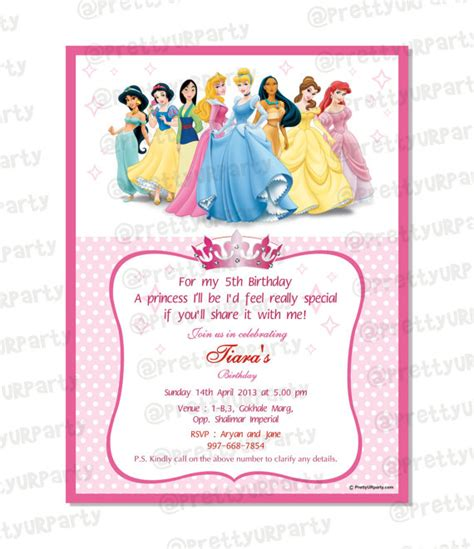Free Disney Birthday Card Template by Invitation Template Disney Princess Http Webdesign14