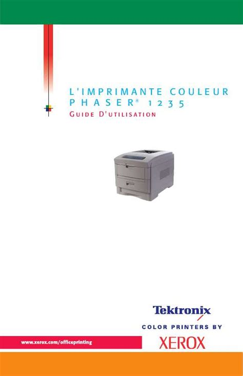 Xerox Cp235w Cover By M mode d emploi xerox phaser 1235 imprimante laser trouver