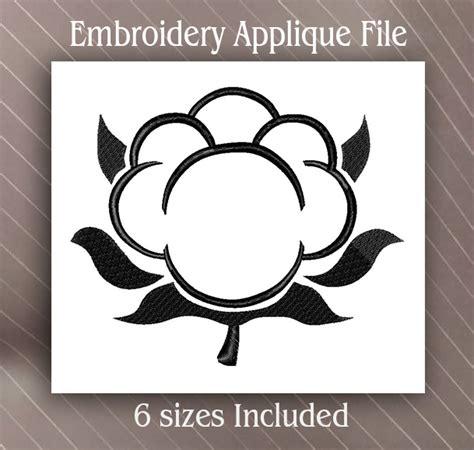 bol l design cotton boll monogram embroidery applique design 6 sizes