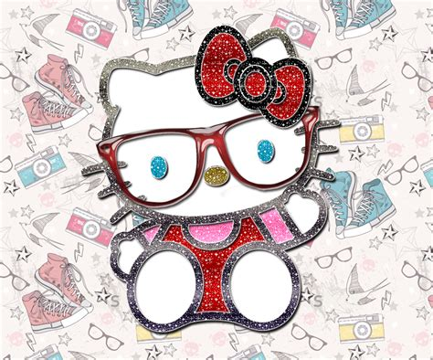 hello kitty mustache wallpaper sparkling kitty go launcher wallpapers chikibujia