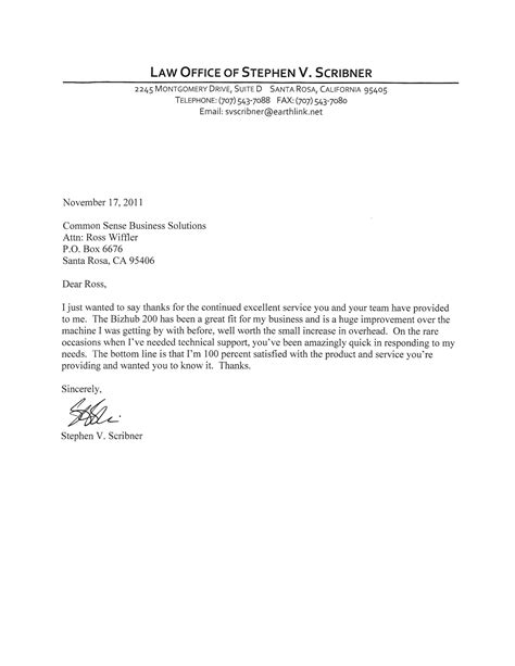 testimonial letters common sense business solutions