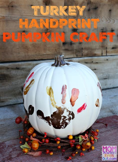 How To Make A Turkey Out Of A Paper Bag - thanksgiving crafts handprint turkey pumpkin keepsake