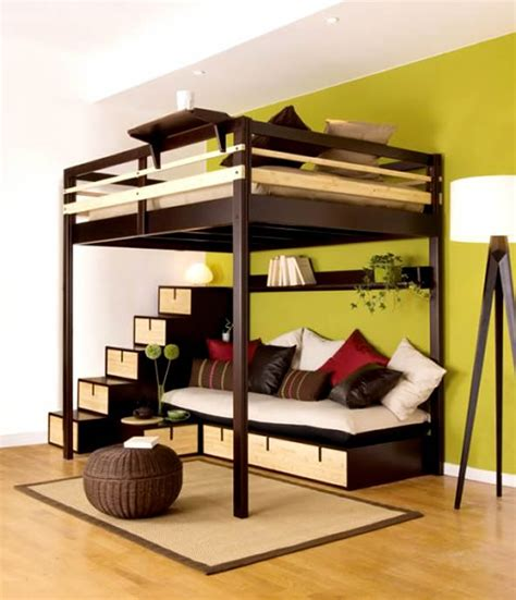 small bunk beds contemporary bedroom design small space loft bed couple
