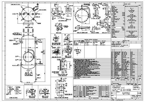 design engineering detail pressure vessel drawing