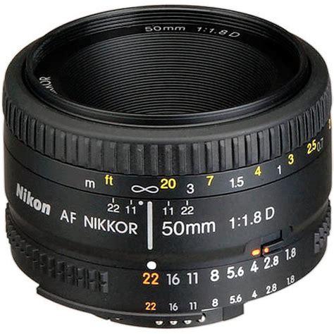 nikon af nikkor 50mm f 1 8d lens refurbished 2137b b h photo