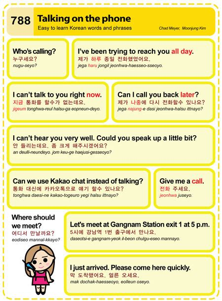 Learning Korean Phone by Easy To Learn Korean 788 Talking On The Phone Easy To