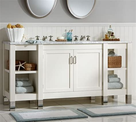 carrara marble console sink napa sink console with carrara marble pottery barn