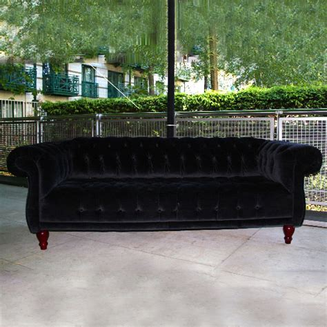 Black Velvet Chesterfield Sofa Black Velvet Chesterfield Sofa Ten And A Half Thousand Things