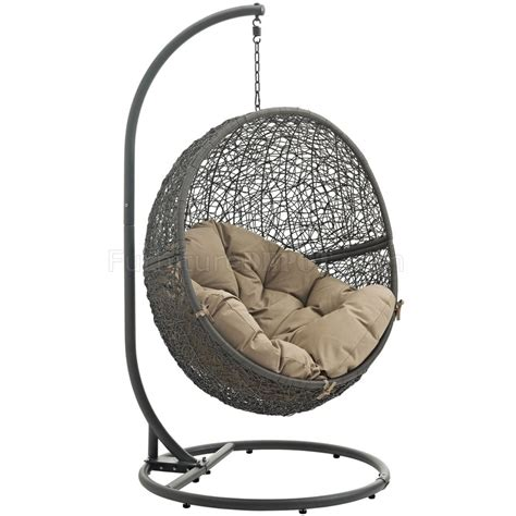the swing chair hide outdoor patio swing chair gray by modway choice of color