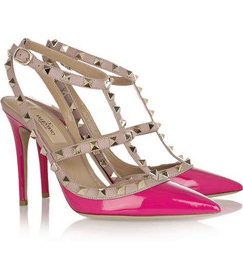valentino rockstud shoes in pink who