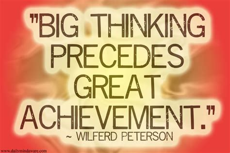 Essay On Big Thinking Precedes Great Achievement by Imagination Is A That Ignites The Creative S By Wilferd Peterson Like Success