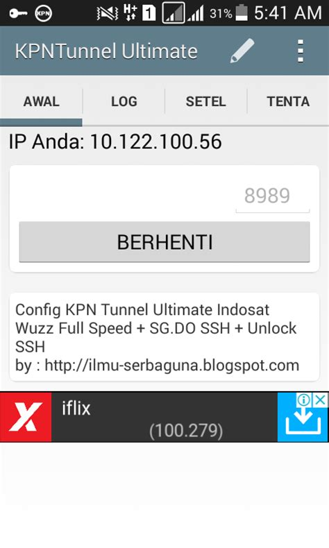 konfig kpn tunnel config kpn tunnel ultimate indosat terbaru 2018