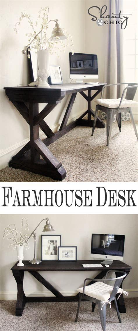 diy desk  bedroom farmhouse style shanty  chic