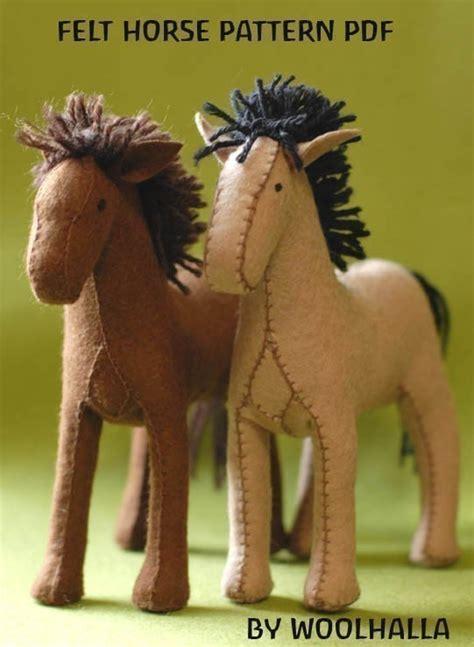 etsy horse pattern felt horse pattern pdf by woolhalla on etsy