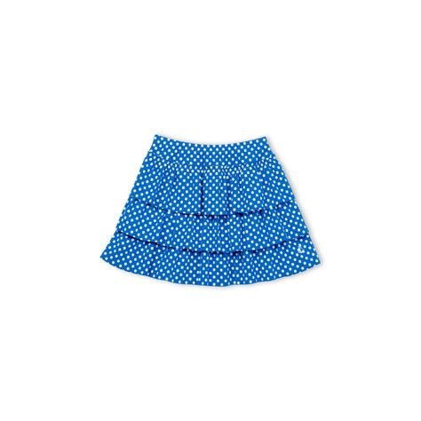 petit bateau skirt with ruffles cobalt blue with
