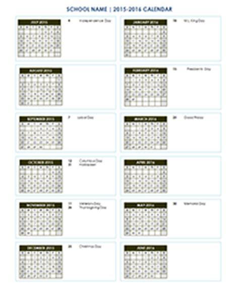 school calendar academic calendar templates