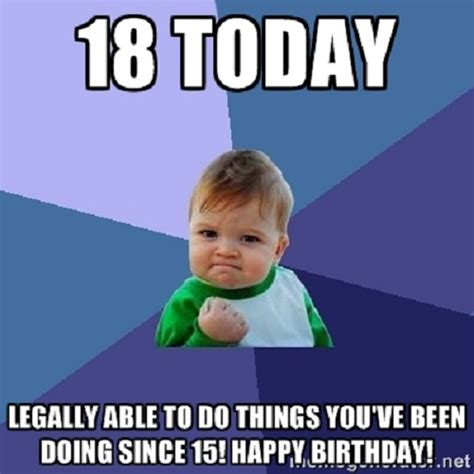 18th Birthday Meme - 18th happy birthday meme happy birthday memes