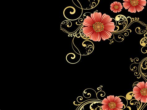 Free Powerpoint Backgrounds Beautiful Orange Flower Design Colorful Floral Powerpoint Templates Flowers Orange