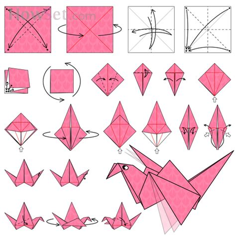 Origami Of Birds - flapping bird animated origami how to make