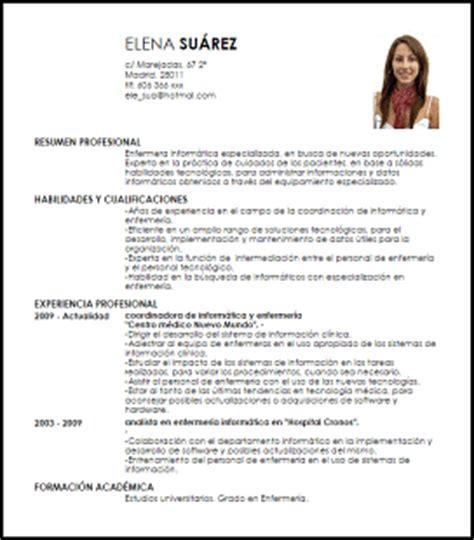 Plantillas De Curriculum Vitae Informatica Modelo Curriculum Vitae Enfermera Inform 225 Tica Livecareer