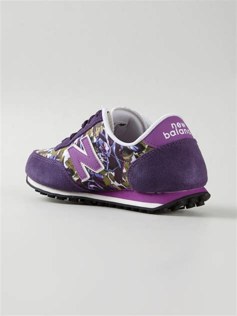 purple new balance sneakers new balance 410 floral print sneakers in purple lyst