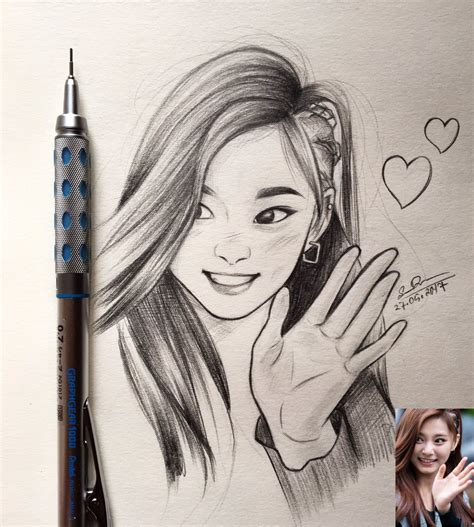 D Sketches by Huskytzu On Quot Another Tzuyu Sketch