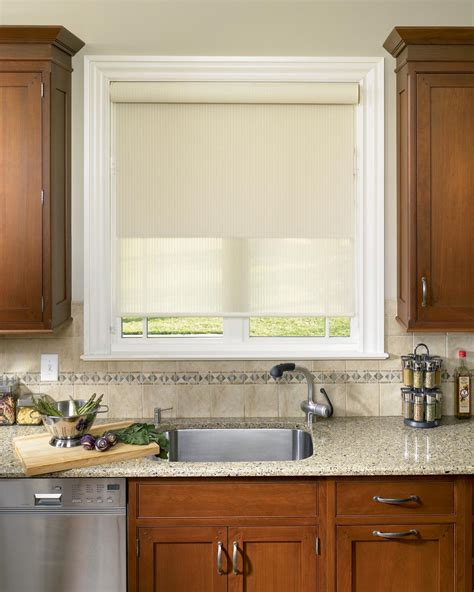 blinds in kitchen window window treatments design ideas