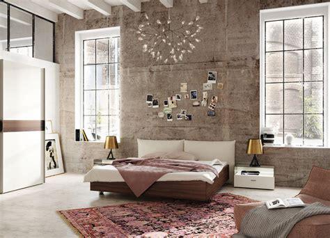 Modern bedroom design with a distressed wall hulsta harmony jpg