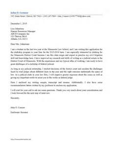 Cover Letter For Judicial Clerkship Clerkship Cover Letter Freewordtemplates Net