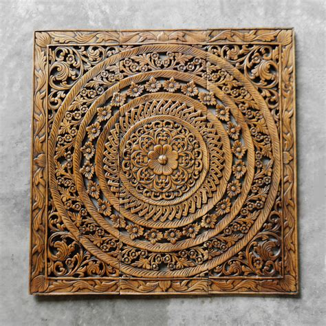 wooden wall hanging moroccan decent wood carving wall art hanging siam sawadee