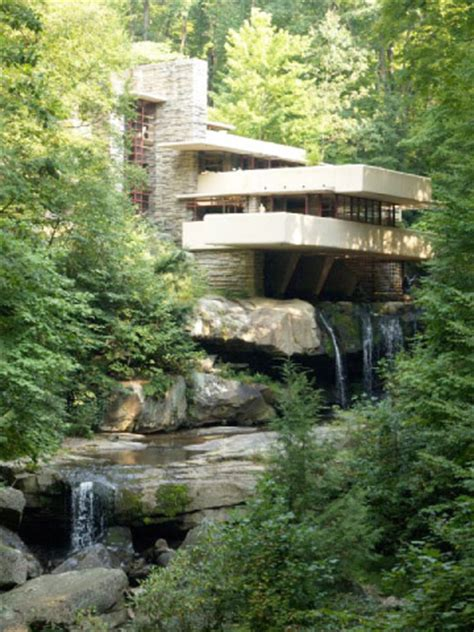 Frank Lloyd Wright Waterfall by Fallingwater Pictures Standard View Frank Lloyd Wright