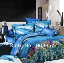 Quilt Sets Discount Blue The Sea Fish Pattern Cheaper 3d Bedding Set