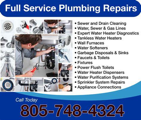 Plumbing And Drain Service Plumbers In San Luis Obispo