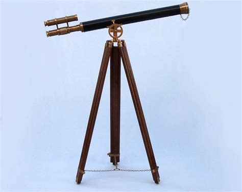 Telescope Floor L by Buy Floor Standing Antique Brass With Leather Griffith
