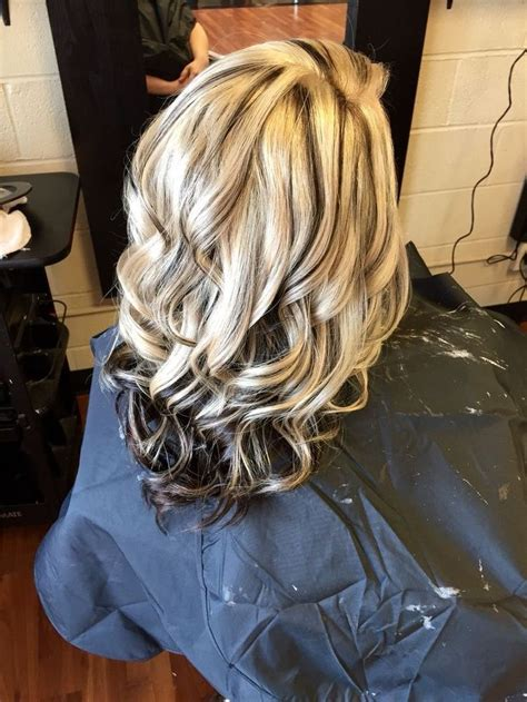 blonde highlight red on bottom 779 best hairstyles images on pinterest hairstyles hair