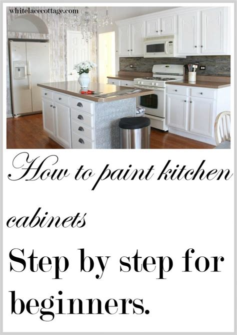 steps to painting kitchen cabinets painting kitchen cabinets how to step by step white lace