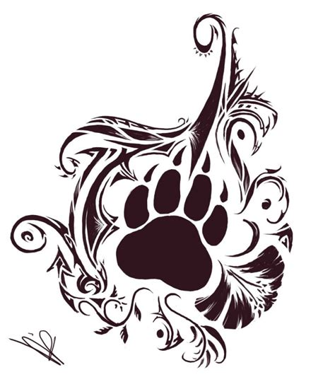 tribal paw tattoo tribal animals zoeken pinteres