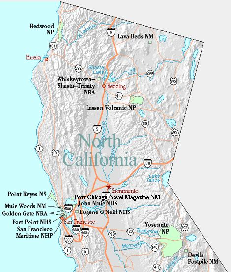 california map of national parks map of california national parks and monuments